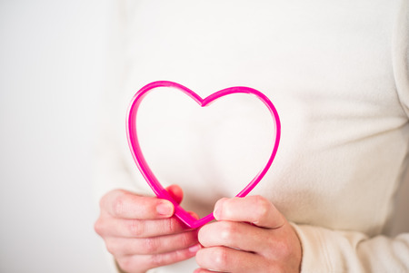 Woman hands withe heart