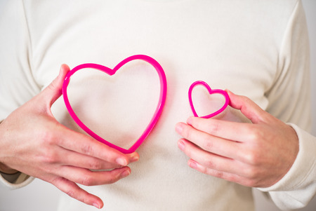 withe: Woman hands withe heart