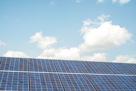 electricity company: Solar panel system Stock Photo