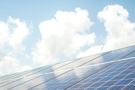 太陽電池パネル システム 写真素材