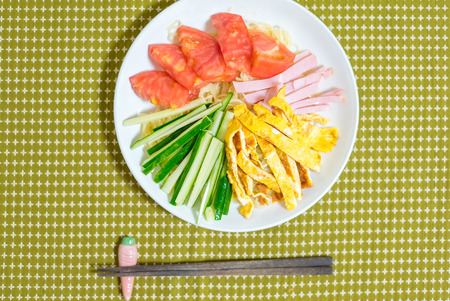 ramen: Hiyashi Ramen Stock Photo