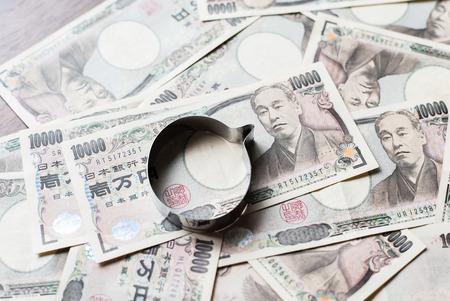 savings and loan crisis: Speech balloon and ten thousands japanese yen