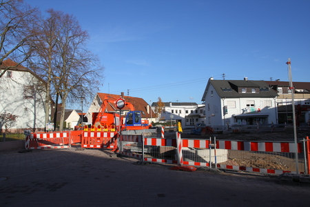 redesign: Sandweier village square under construction