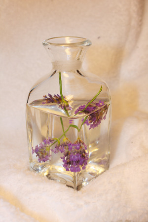 parfum: bottle with lavender water Stock Photo
