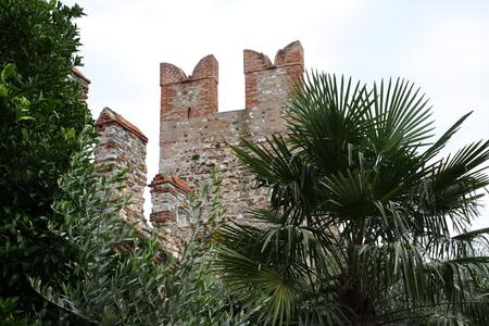 scaliger castle in Sirmione Garda lake