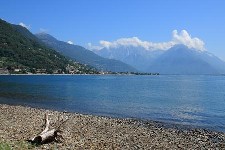 lake como: lake como, lake view from gravedona to domaso