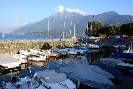 lake como: Gravedona at lake Como