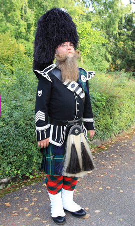 scot: scotsman in fulldress Stock Photo