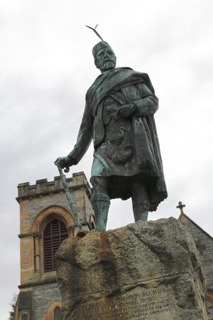 william: Bronze, statue, Donald Cameron of Lochiel, Fort William, Scotland