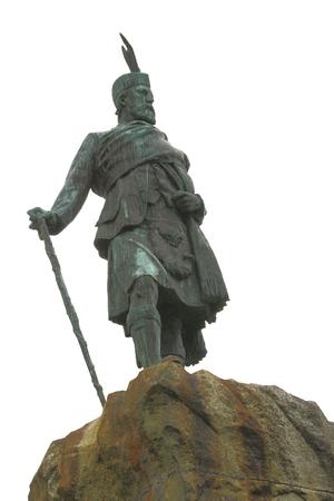 william: Bronze, statue, Donald Cameron of Lochiel, Fort William, Scotland, Stock Photo