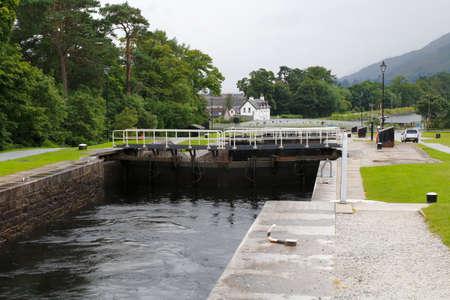 william: caledonian canal Neptunes Straicase near fort william in Scotland