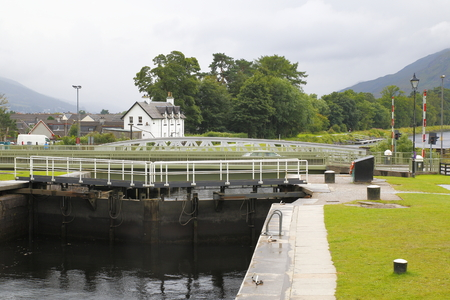 caledonian canal Neptunes Straicase near fort william in Scotland