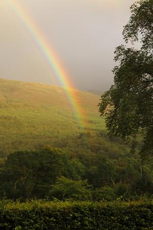 spectral colour: rainbow over Ballachulish