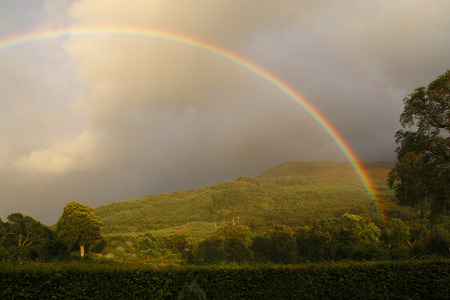rainbow over Ballachulish