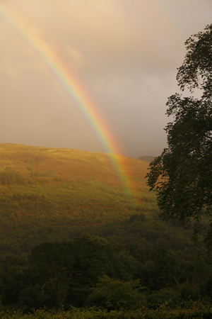 spectral colour: rainbow over Ballachulish