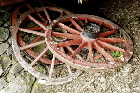 cartwheel oude houten wiel
