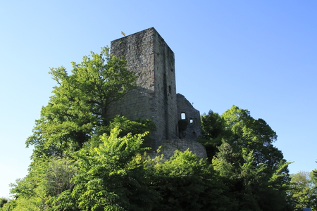 Castle wind corner, with Buehl. Kappelwindeck, in the Black Forest