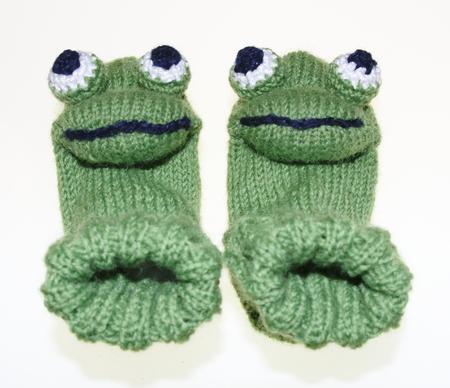 Witty baby, children frog socks, socks, knitted