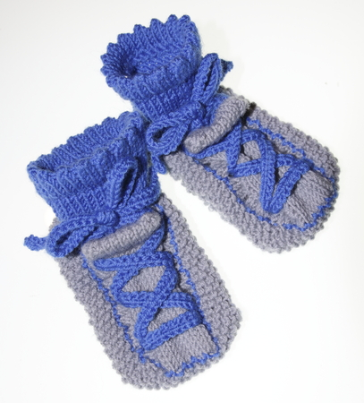spandex: Young baby socks, socks, knitted in the sneaker look