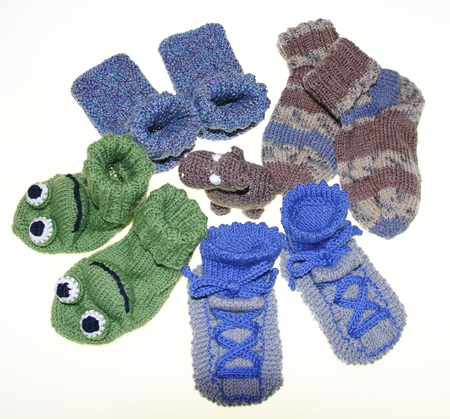 spandex: Mixed knitted hildren baby socks