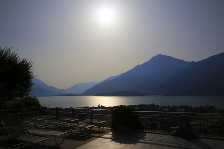 Gravedona, municipality of Gravedona in Lake Como, Italy, sea look