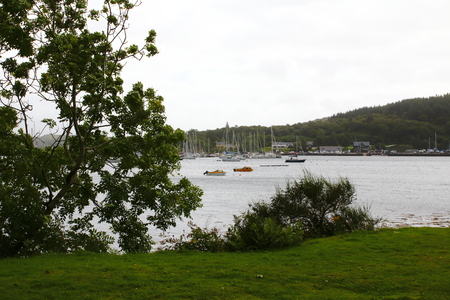 Harbor of Dunbeg in the hole Linnhe, Council Argyll Imagens