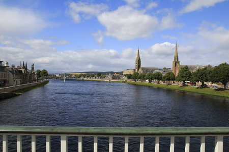 Inverness with the River Ness, panorama, town view