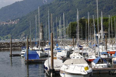 Harbor of Domaso unit gravedona in Lake Como