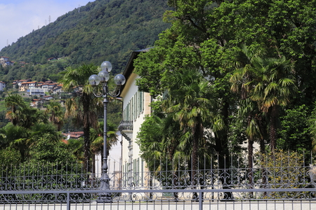 Villa Camilla, local government and city hall with park at Domaso in Lake Como