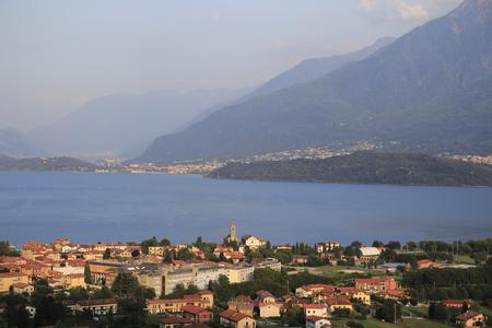 Morning mood, sunrise about Gravedona in Lake Como Archivio Fotografico