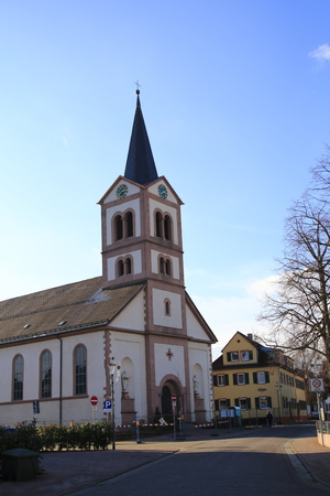 Church of Saint Catherine in the village square in Sandweier, suburb of Baden-Baden