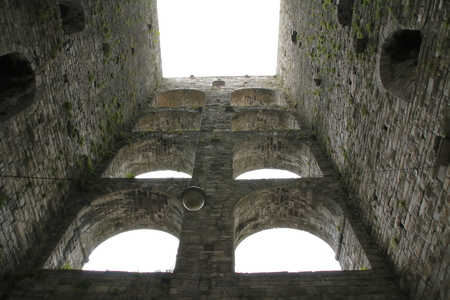 Old tower, ruin, Porta Vittoria townhouse in Como Lake Como, Italy