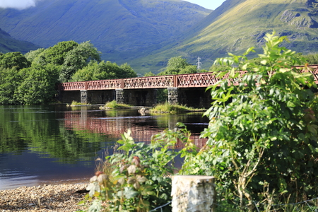 Orchy Viaduct Bridge at Loch Awe, Argyll in highlands of Scotland Stock Photo