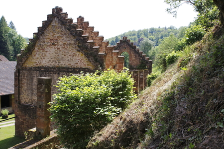 Old iron forge ruin at Jaegerthal in Alsace in France