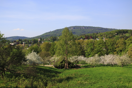 Baden-Baden Lichtental, with a view of the Battert Rock