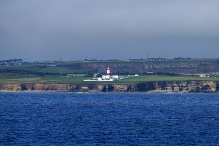 Souter lighthouse in Great Britain, first electric lighthouse worldwide