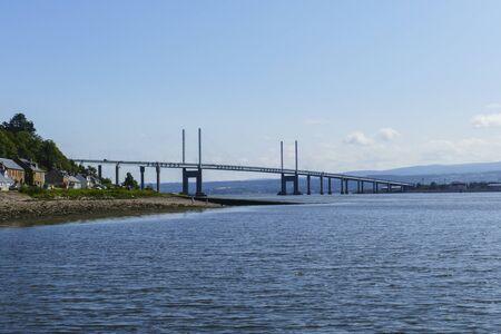 Kessock Kessock Bridge on the Beauly Firth bay with North Kessock in Scotland