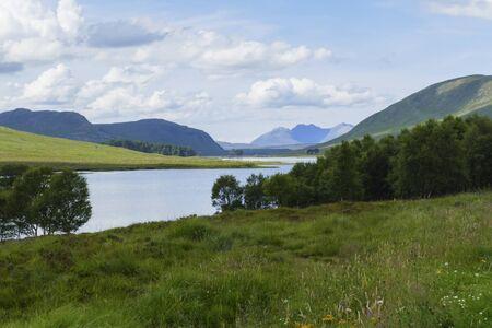 Lake Loch Droma, in the Highlands of Scotland, United Kingdom Reklamní fotografie - 135469971