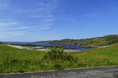 View over Scourie Bay in Scotland, near Ullapool