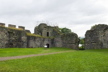 Inverlochy castle, ruins of an old fortress in Fort William Scotland 写真素材