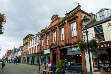 Fort William, Old Town with shops and tourists 報道画像