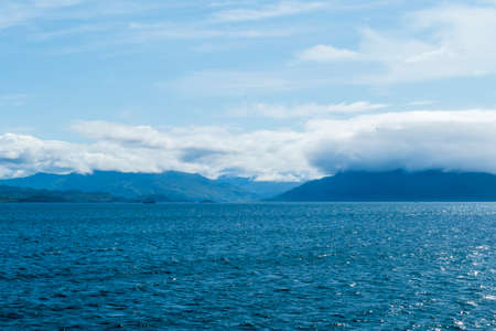 View from Armadale, Isle of Skye over the sea to Mallaig, Scotland 写真素材
