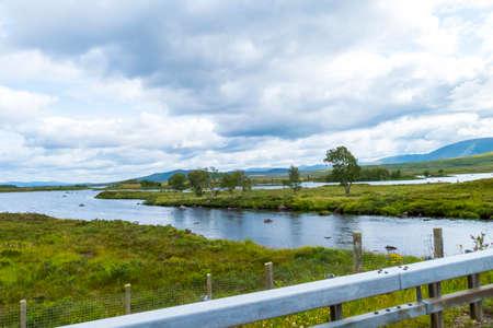 Lake Loch Droma, in the Highlands of Scotland, United Kingdom