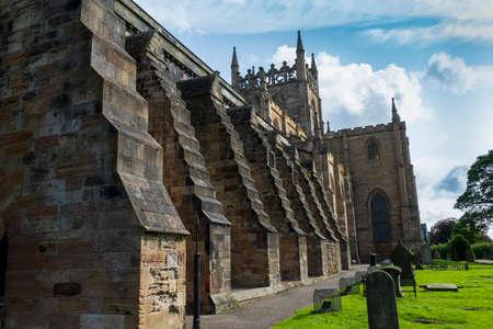 The historic Abbey Church Dunfermline Stock Photo