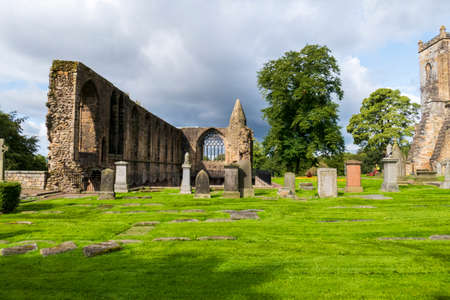 Ruins, Royal Palace in Dunfermline, Scotland 新闻类图片