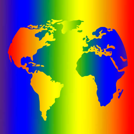 The Earth in Rainbow Colors - Symbol of More Tolerance