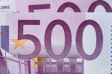 500 euro notes Stock Photo