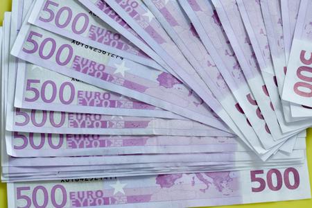billets euros: Billets de 500 euros