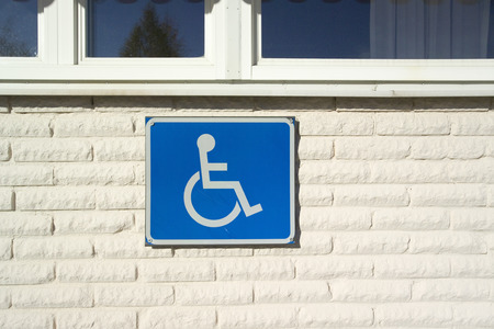 and only: handicapped parking only sign Stock Photo