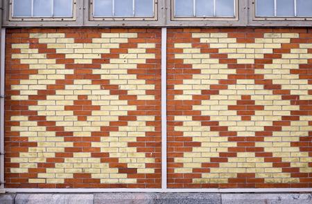 finland: brick wall patterns, Helsinki Finland Stock Photo